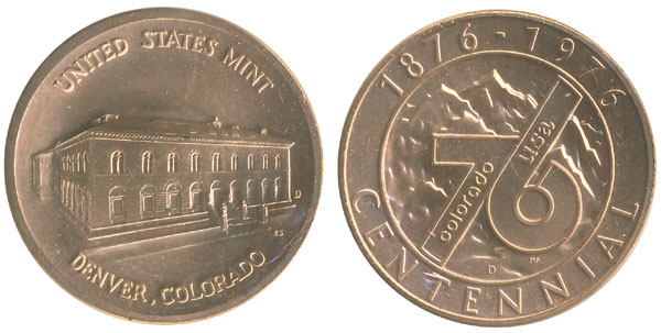 1976 Denver Colorado Centennial Medal