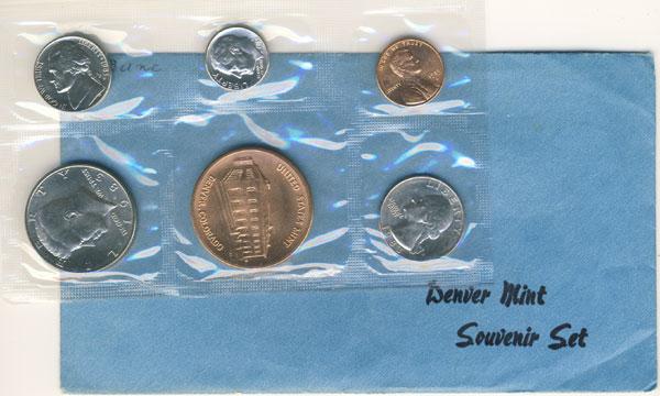 w// Mint Medal Uncirculated 1983 D Denver mint souvenir coin set